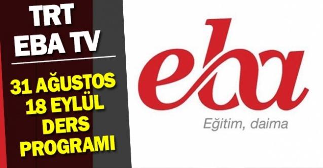 EBA TV Canlı Ders Saatleri (İlkokul, Ortaokul, Lise)