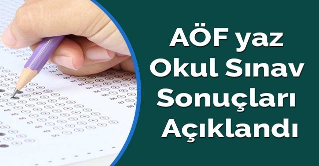 AÖF yaz okul sınav sonuçları açıklandı