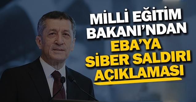 Bakan Selçuk'tan EBA'ya siber saldırı açıklaması