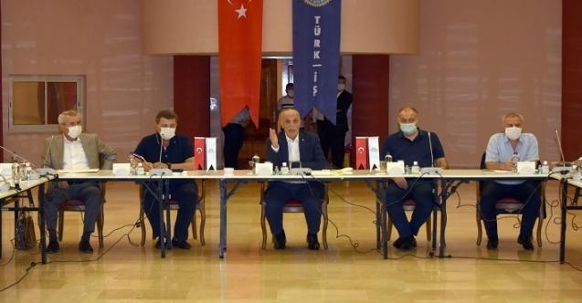 Türk-İş Başkanlar Kurulu Toplantısında Taşerondan Kadroya Geçen Sürekli İsçiler Görüşüldü!