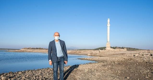 Başkan Soyer kuraklık nedeniyle su seviyesi düşen Tahtalı'dan seslendi