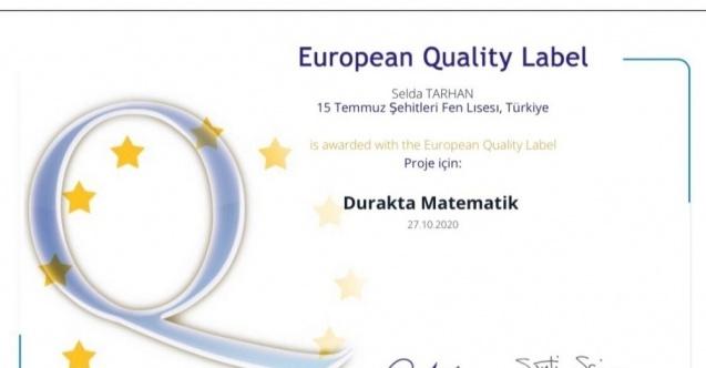 Çorum Belediyesinin destek verdiği projeye Avrupa'dan ödül