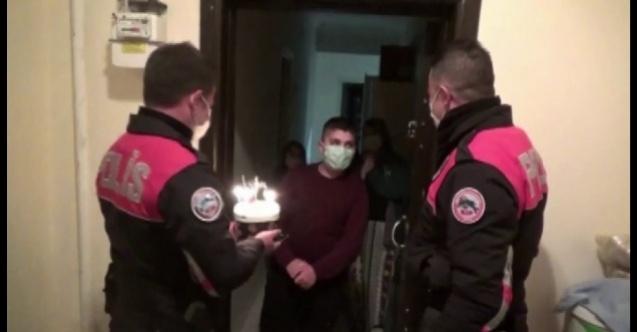 Polis ekiplerinden 14 yaşındaki çocuğa doğum günü sürprizi