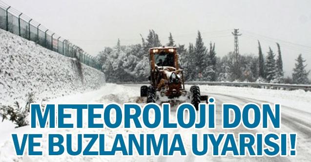 Meteoroloji don ve buzlanmaya karşı uyardı