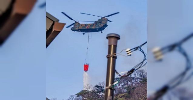 Japonya'da günlerdir devam eden orman yangını kontrol altına alınamıyor