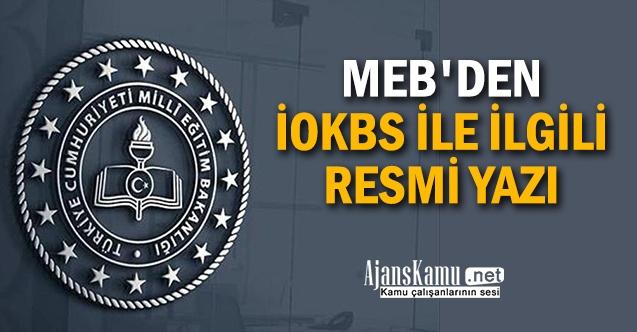 MEB'den 2021 Yılı İOKBS ile ilgili resmi yazı
