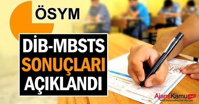 DİB-MBSTS Sonuçları Açıklandı