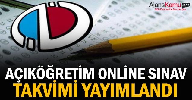 Açıköğretim online sınav takvimi yayımlandı