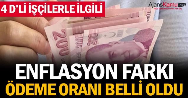 ENFLASYON FARKI ÖDEME ORANI BELLİ OLDU