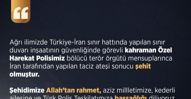 """İçişleri Bakanlığı: """"Türkiye-İran sınırında terör saldırısında bir özel harekat polisimiz şehit oldu"""""""