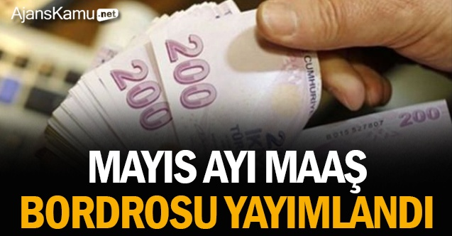 Mayıs ayında ödenek 'maaş bordroları' yayımlandı