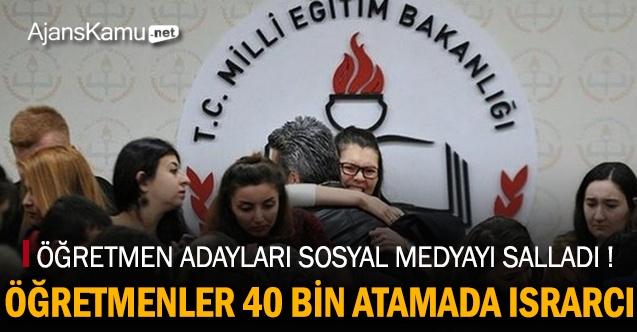 Öğretmen Adayları 40 Bin Ek Atamada Israrcı