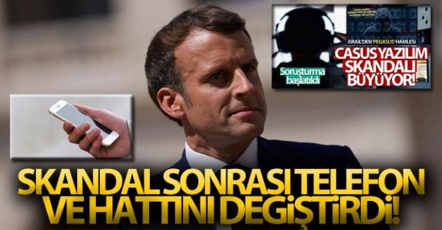Macron, telefonunu ve hattını değiştirdi