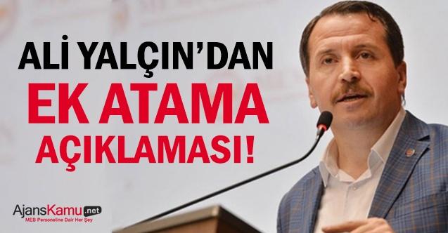 Ali Yalçın'dan ek atama açıklaması!