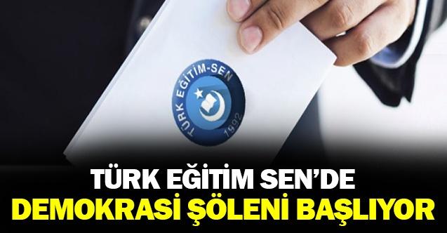 Türk Eğitim-SEN'de Demokrasi Şöleni Başlıyor