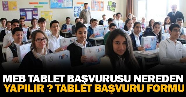 MEB Tablet Başvurusu Nereden Yapılır ? Tablet Başvuru Formu