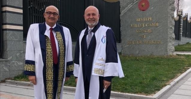 Rektör Ataç Cumhurbaşkanlığı Külliyesindeki törene katıldı